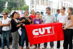 Sindicato dos Bancários, Contraf-CUT, Fetec-CUT/CN e Sindicato dos Urbanitários presentes na luta para barrar as PPPs