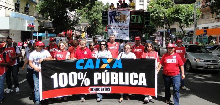 Dia 27 vamos às ruas em defesa da Caixa. #acaixaédopovo!