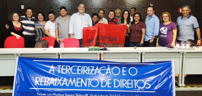 Debate com Marilane Teixeira discutiu o impacto da terceirização à classe trabalhadora