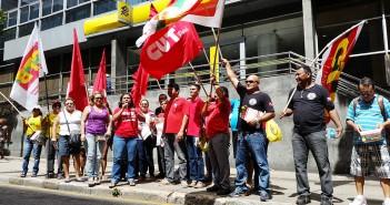 Bancários, CUT e CTB fazem ato em Belém contra os juros altos no país