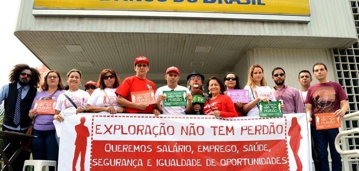 Bancários nas ruas de Belém em defesa de mais saúde e melhores condições de trabalho