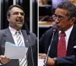 Para Fontana (esq.) e Vicentinho, Cunha perde aliados e condições de presidir a Câmara dos Deputados