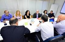 Reunião com representantes do Itaú e trabalhadores, em São Paulo