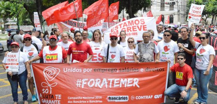 CN2016: Bancários ocupam as ruas de Belém no dia nacional de paralisação da classe trabalhadora