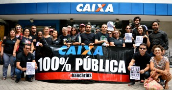 Categoria no Pará se veste de preto contra a abertura do capital da Caixa