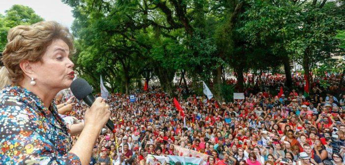 Condenar Lula é a terceira fase do golpe, diz Dilma