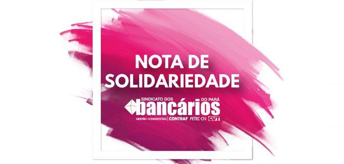 Categoria bancária é solidaria à greve dos rodoviários