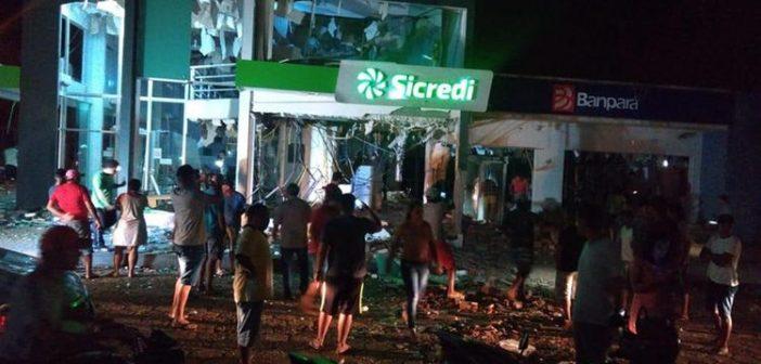 Bandidos explodem Banpará, Banco do Brasil e Sicredi em Rondon do Pará