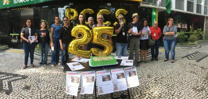 Fica, vai ter bolo! Bodas de prata do PCCS do Banco da Amazônia foi em tom de protesto