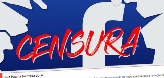 Fomos censurados pelo Facebook. Exigimos respeito à liberdade de expressão!