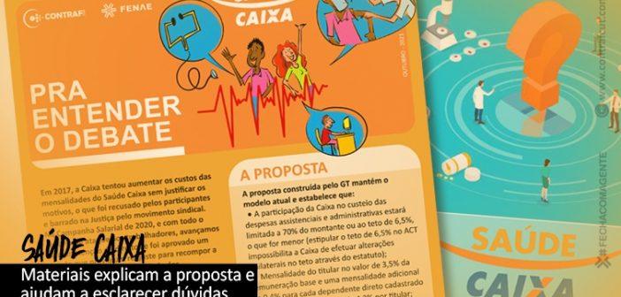 Materiais explicam proposta para o Saúde Caixa